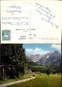 624598,Scheffau a. Wilden Kaiser Ansicht Wegkreuz Kirche