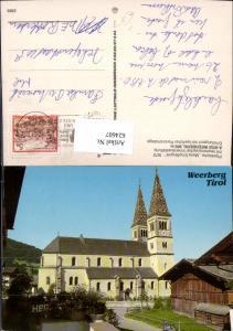 624607,Weerberg Pfarrkirche Maria Empfängnis Kirche pub Alpine Luftbild 2569