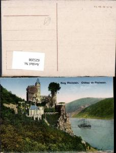 625208,Burg Rheinstein Chateau de Rheinstein Schiff Dampfer