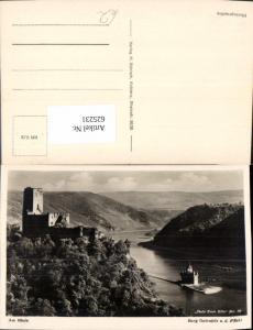 625231,Foto Ak Burg Gutenfels u. Pfalz b. Caub Kaub a. Rhein