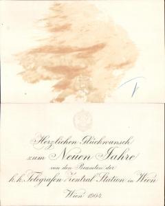 626006,Postwesen Post Wien Telegraphen Zentral Station 1904