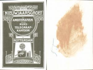 Postwesen Rotterdam 1904 Telegraphenamt Jugendstil Art Nouveau pub Stadler & Sauerbier