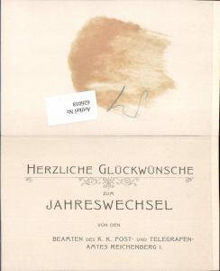 626018,Postwesen Reichenberg Liberec Telegrafenamt Postamt 1904