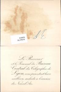 626019,Postwesen Lyon Frankreich Bureau Central telegraphes