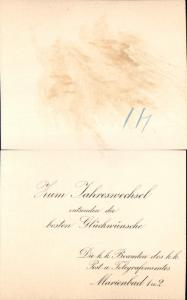 626022.Postwesen Marienbad K.K. Telegraphen Postamt 1904