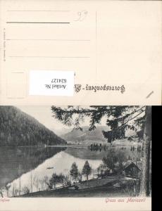 624127,Gruss aus Mariazell Maria Zell Erlaufsee Mitterbach Erlafsee pub O. Schleich 87
