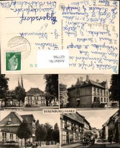 627766,Mehrbild Ak Derenburg Harz Blankenburg Rathaus m. Kirche Schule Lehrkombinat