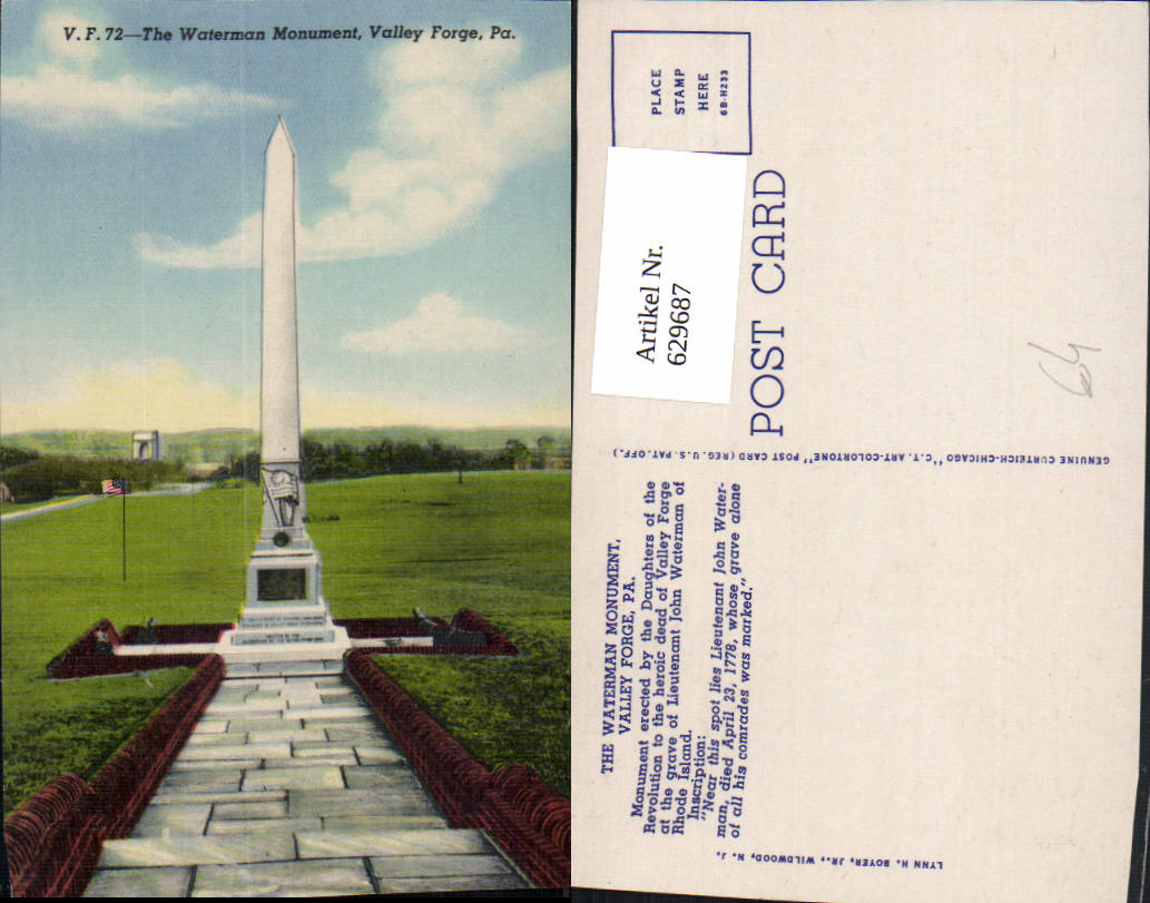 629687,The Waterman Monument Valley Forge Pennsylvania 0