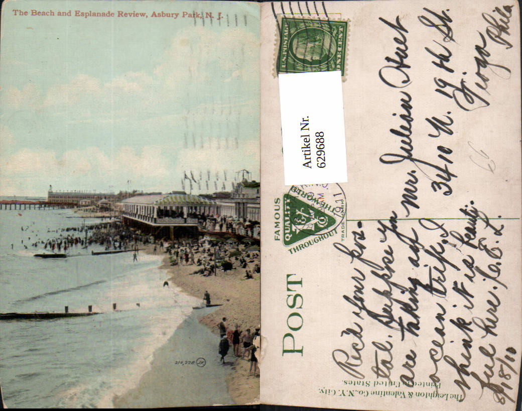 629688,The Beach and Esplanade Review Asbury Park New Jersey 0