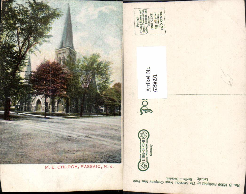 629691,M. E. Church Passaic New Jersey 0