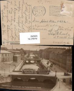 630292,Foto Ak Kobenhavn Kopenhagen Stormbroen og Frederiksholms Kanal Straßenbahn Denmark