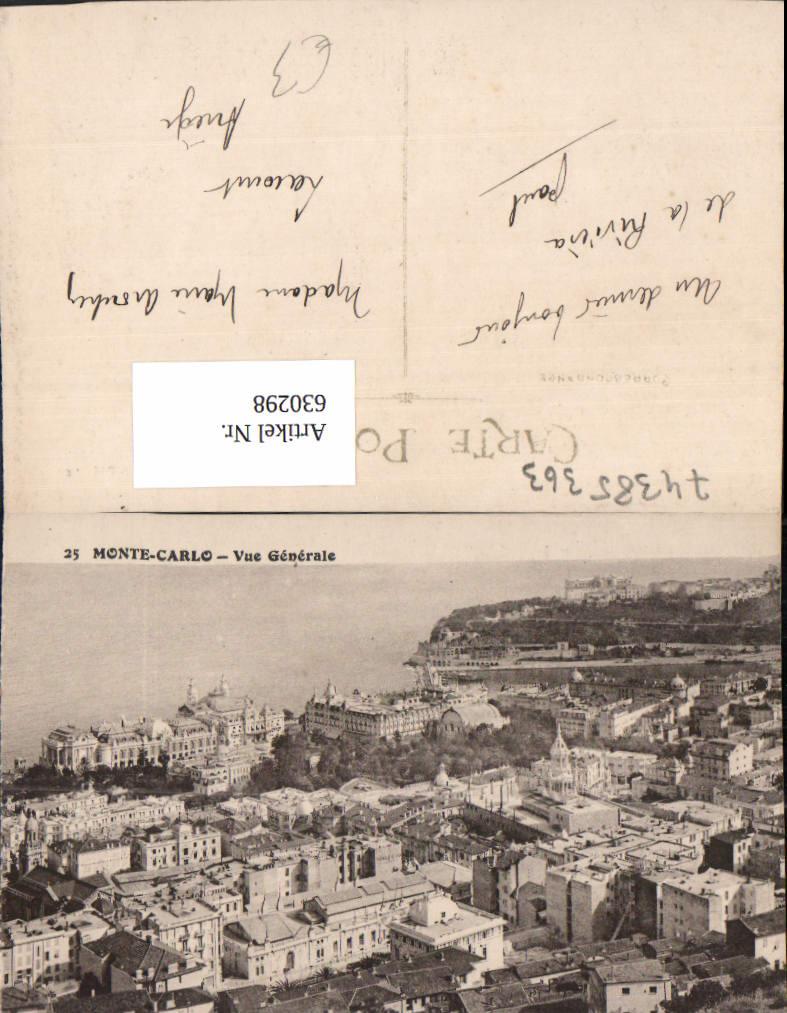 630298,Monaco Monte-Carlo Vue Generale 0