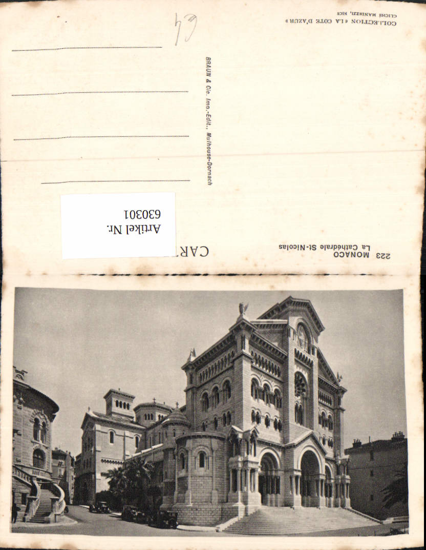 630301,Monaco La Cathedrale St-Nicolas Kathedrale 0