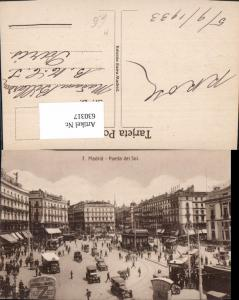 630317,Madrid Puerta del Sol Straßenbahn Automobile Spain