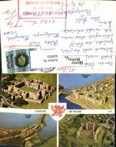 630935,Mehrbild Ak Castles of Wales Boaumaris Caernarfon Conway Harlech Great Britain