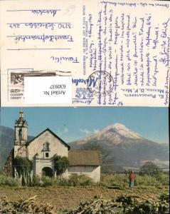 630937,El Popocatepetl Kirche Mexico