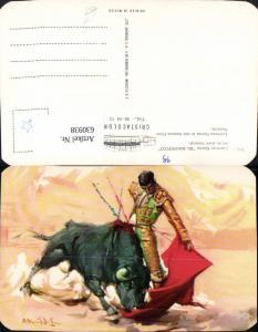 630938,Künstler Ak Lorenzo Garza El Magnifico en un pase natural Stier Stierkampf Mexico
