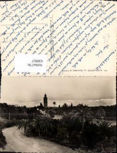 630957,Foto Ak Marrakech Marrakesch La Koutoubia et l Atlas Marokko