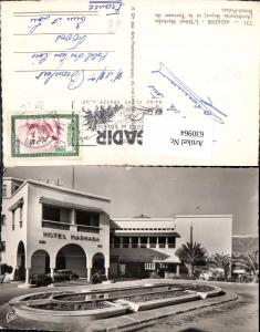 630964,Foto Ak Agadir L Hotel Marhaba et la Terrasse du Rond-Point Marokko