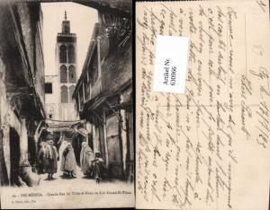 630966,Fez Fes Medina Grande-Rue du Talaa et Mosquee Sidi Ahmed-el-Tijani Volkstypen Marokko