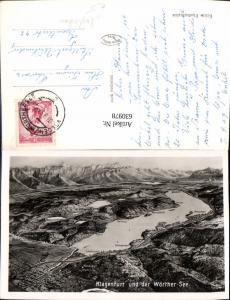 630978,Landkarten AK Vogelschau Klagenfurt u. d. Wörthersee