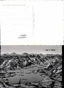630979,Landkarten AK Lago di Garda Garda Peschiera Moniga Gargnano