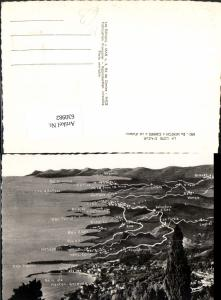 630982,Landkarten AK La Cote d Azur De Menton a Cannes a vol d oiseau France