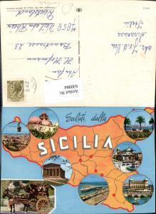 630984,Landkarten AK Sicilia Sizilien Trapani Messina Catania Italy