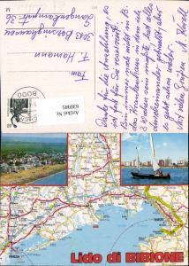 630985,Landkarten AK Lido di Bibione Italy