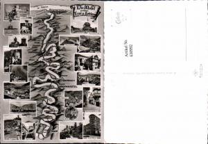 630992,Landkarten AK Die Mosel zwischen Tier u. Koblenz