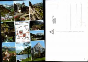 630993,Landkarten AK Drei-Pässe-Fahrt Flexenpass Fernpass Arlbergpass