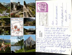 630994,Landkarten AK Drei-Pässe-Fahrt Flexenpass Fernpass Arlbergpass
