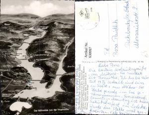 630997,Landkarten AK Der Möhnesee a. d. Vogelschau Drüggelte Allagen Körbecke