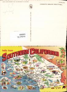 630999,Landkarten AK Southern California Santa Monica Victorville Bakersfield