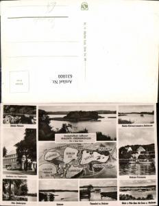 631000,Landkarten AK Die 5 Seen Fahrt Malente Gremsmühlen Dieksee Timmdorf