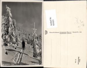 631021,Foto Ak Auf einsamen Weg Tourengehen Skibergsteigen Ski Wintersport