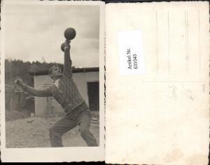 631043,Foto Ak Mann mit Hantel Gewichtheben Kraftsport Sport