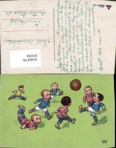 631056,Künstler Ak Kinder spielen Fussball Ball Sport