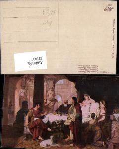 631099,Repro Künstler Ak G. Lairesse Antonius b. Cleopatra Frau Barbusig Akt Erotik