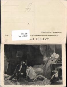 631103,Künstler Ak Juan E. Harris La Loi de l Honneur Frau Akt Eifersucht Mord Erotik