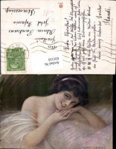 631110,Künstler Ak Guerzoni Frau Dekollete Erotik