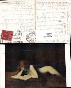 631113,Künstler Ak J. J. Henner La liseuse The reader Lesen Frau Nackt Nude Akt Erotik