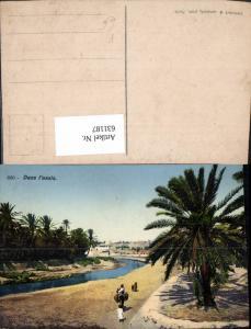 631187,Dans l oasis Palmen Volkstypen Tunesien pub Lehnert & Landrock Tunis