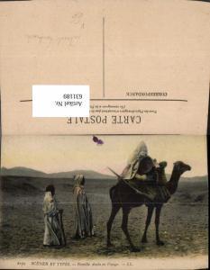 631189,Scenes et Types Familie Arabe en Voyage Kamel Volkstypen pub Lehnert & Landrock 6179