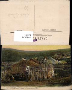 631191,Scenes et Types Douar Arabe Hütte Strohhütte Volkstypen pub Lehnert & Landrock 6198
