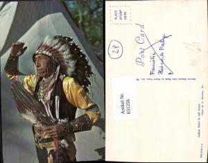 631256,Foto Ak Indian Chief in full dress Indianer