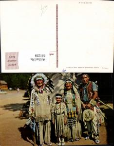 631259,Indianer Chief Running Horse and Family
