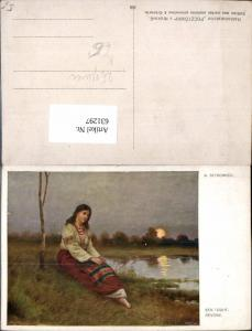 631297,Künstler Ak A. Setkowicz Sen Touhy Reverie Sinti Roma Zigeuner Mignon