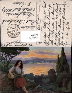 631299,Künstler Ak H. Schwarz Sinti Roma Zigeuner Mignon