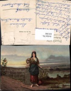 631300,Künstler Ak Frau Sinti Roma Zigeuner Mignon Mandoline